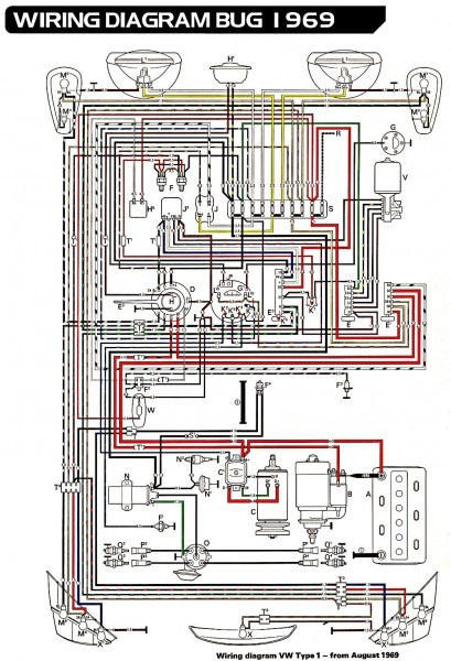69 Vw Bug Wiring Harness Diagrams Schematics At 1967 Beetle