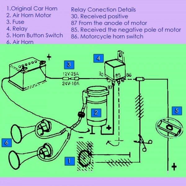 Car Air Horn Wiring Diagram