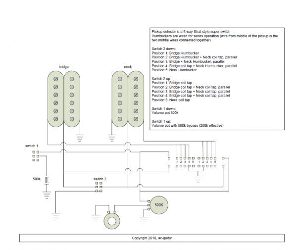 5 Way Guitar Wiring Diagram Two Humbuckers