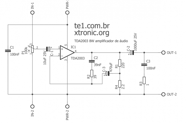 Tda2003 Esq 700x465 Power Amplifier Ic Circuits Automotive Audio