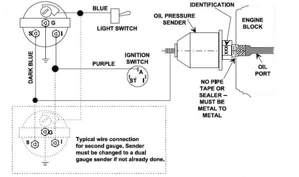 diagram wiring diagram vdo oil pressure gauge full version