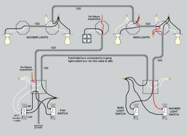 Wiring Lights And Outlets On Same Circuit Diagram Basement A Full
