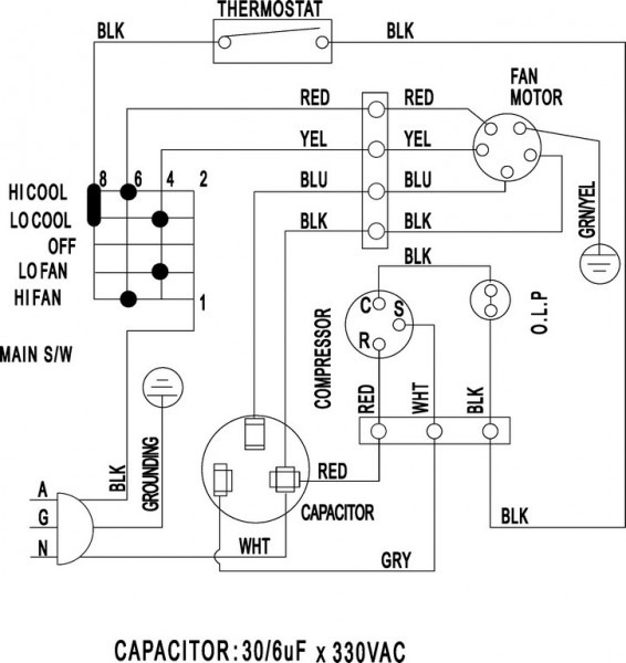 Air Conditioner Wiring Diagram Pdf Window Ac Csr Carrier Split