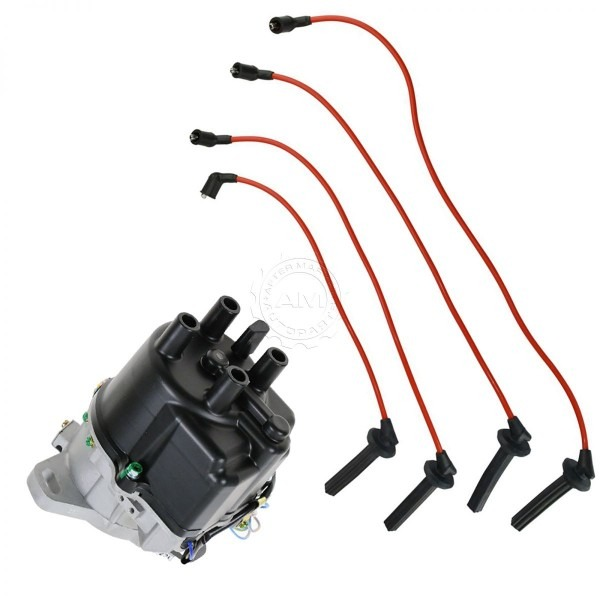 Ignition Distributor & Wire Set For Acura Integra 90 91