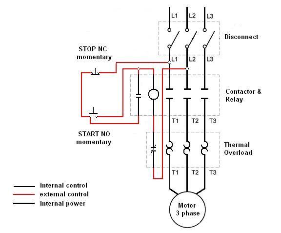 Motor Control Schematic Diagram