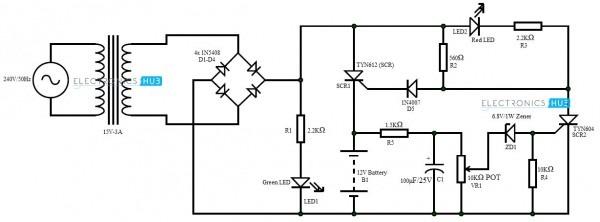 Circuit Diagram 12 Volt Dc Battery Charger
