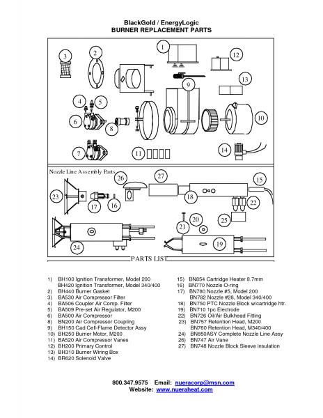 Beckett Oil Burner Parts List