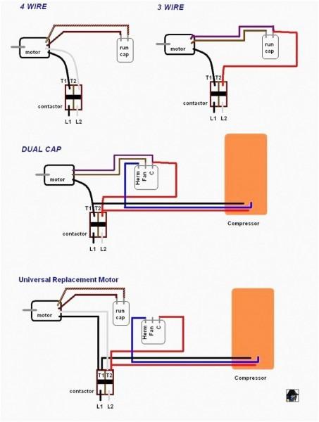 Motor Capacitor Wiring Diagrams