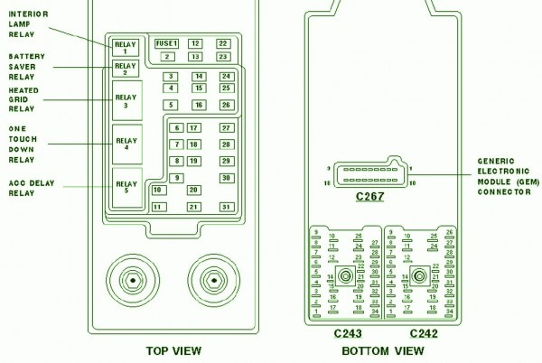 2001 F150 Fuse Box Diagram Relayes