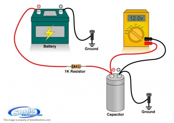 Stereo Capacitor Wiring