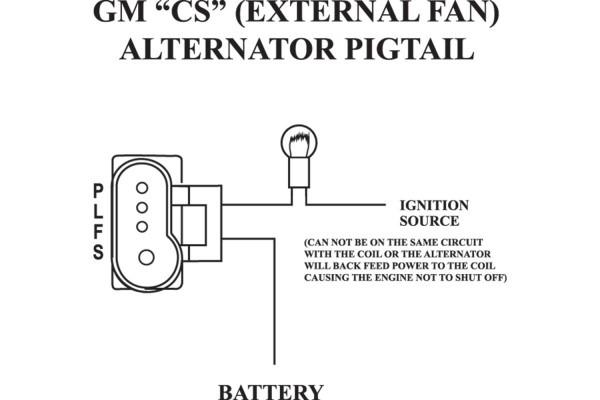 Late Model Gm Alternator Wiring Diagram