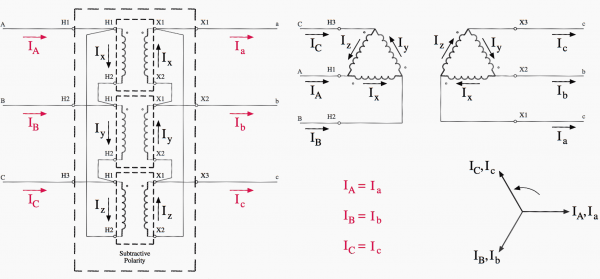 Transformer Wiring Diagrams Three Phase