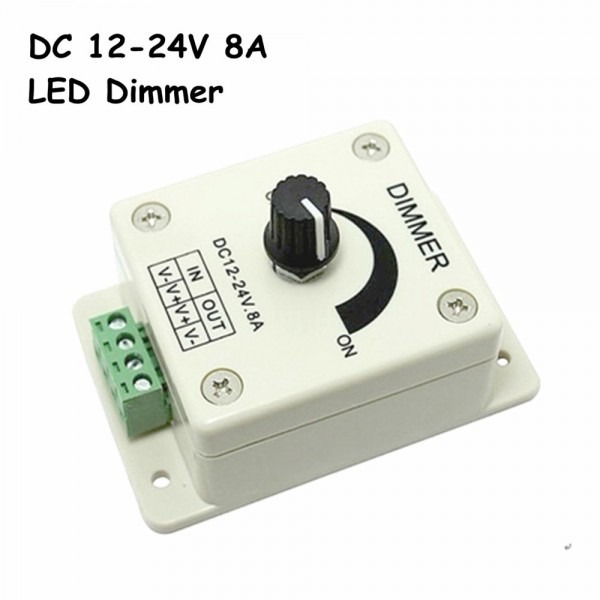 Free Shipping Dc12 24v Led Dimmer, Knob Operated Control Led