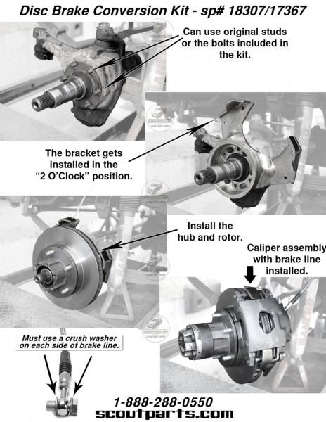 Scout 80, Scout 800 Disc Brake Conversion Kit