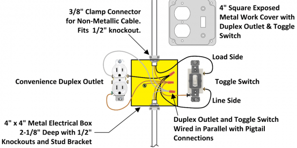 How Wire Light Switch From Outlet Diagram Canopi Receptacle Wiring