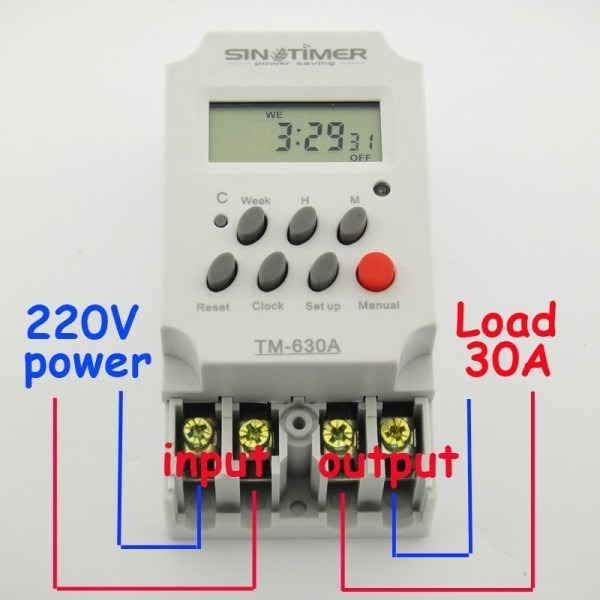 30amp 220v Mini Timer Switch 7 Days Programmable Time Relay Free