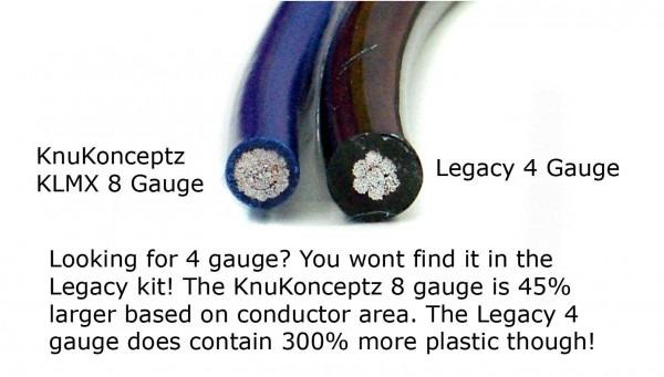 Knukonceptz Ultra Flex Kca 4 Gauge Single Amp Install Wiring Kit
