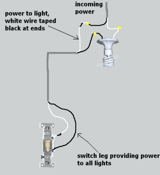 Electrical Wiring Diagrams Single Pole Switches
