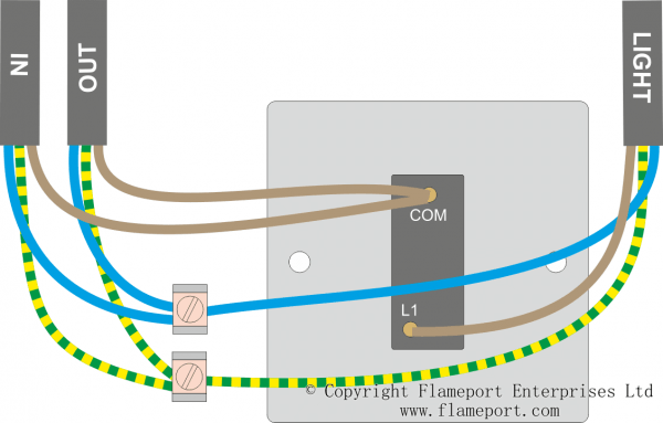Pull Cord Switch Wiring