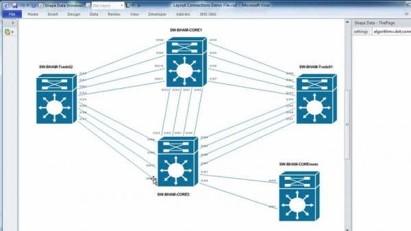 Automatically Laying Out Visio Network Topology Diagrams And