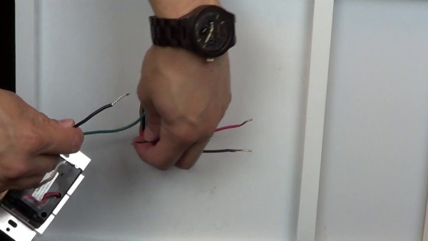 Wiring A Control With 1 Black Wire, One Red Wire, And One White