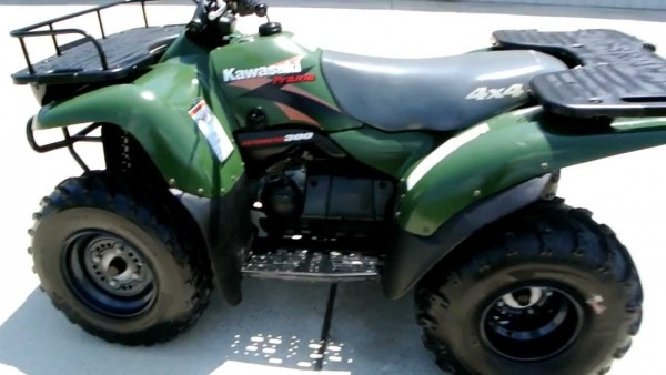2000 Kawasaki Prairie 300 4x4 Woodsman Green Overview Review Walk