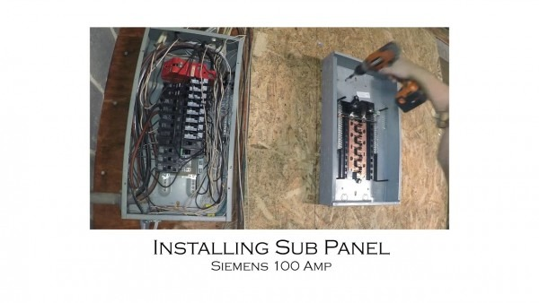 How To Install An Electric Sub Panel And Tie