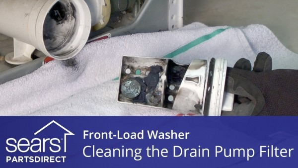 Cleaning The Drain Pump Filter On A Front