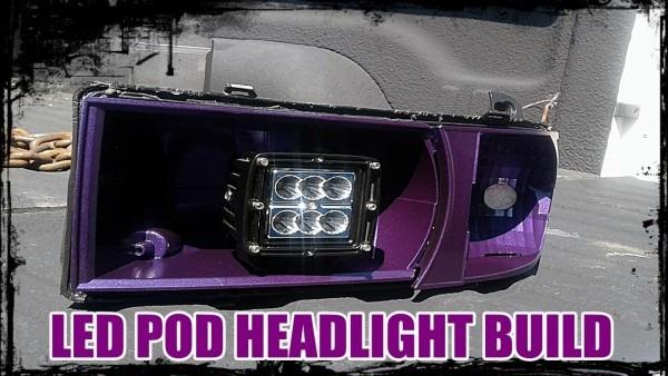 2nd Gen Dodge Ram Custom Halo Led Pod Headlight Build Pt 1