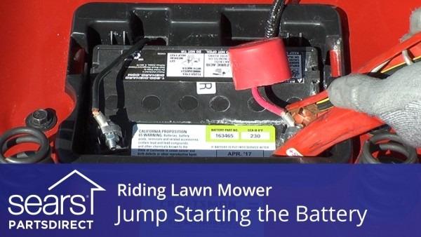 Jump Starting A Riding Lawn Mower