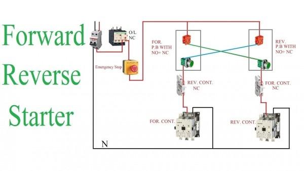 Forward Reverse Starter Working Principle   Reverse Forward Motor