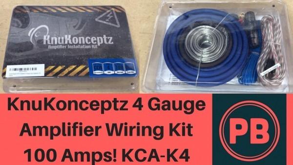 Knukonceptz 4 Gauge Amplifier Wiring Kit Unboxing