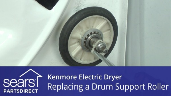How To Replace A Kenmore Electric Dryer Drum Support Roller