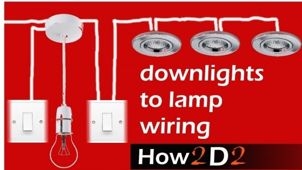 Downlights To Lamp & Switch Wiring   Spotlights To Switch