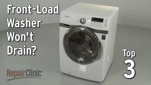 Washer Won't Drain — Washing Machine Troubleshooting