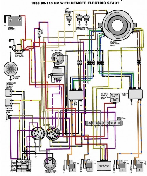 Mercury Outboard Tachometer Wiring Diagram