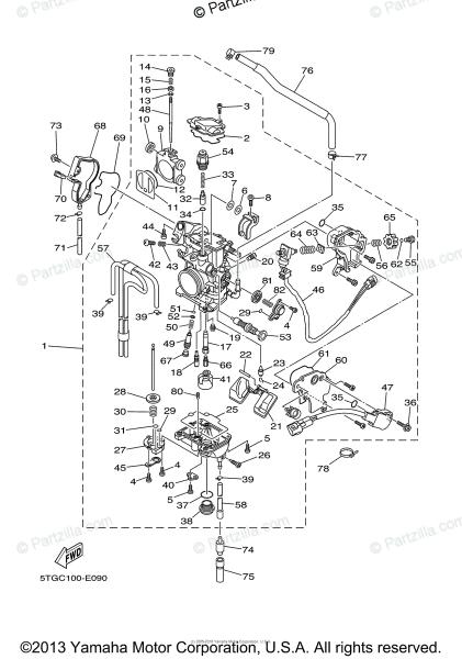 Yamaha Atv 2006 Oem Parts Diagram For Carburetor