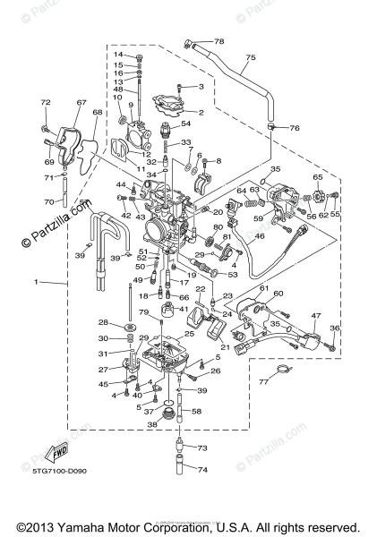 Yamaha Atv 2005 Oem Parts Diagram For Carburetor