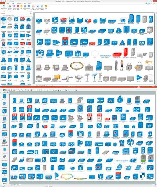 Cisco Network Topology  Cisco Icons, Shapes, Stencils And Symbols