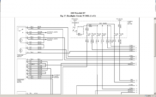 99 Peterbilt 379 Headlight Wiring Diagram