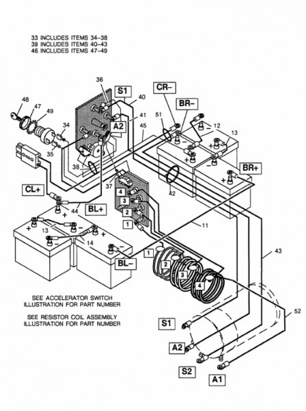 ezgo wiring diagram electric golf cart