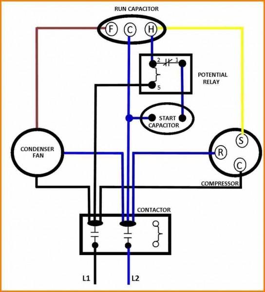 Capacitors For Compressor Wiring Diagram