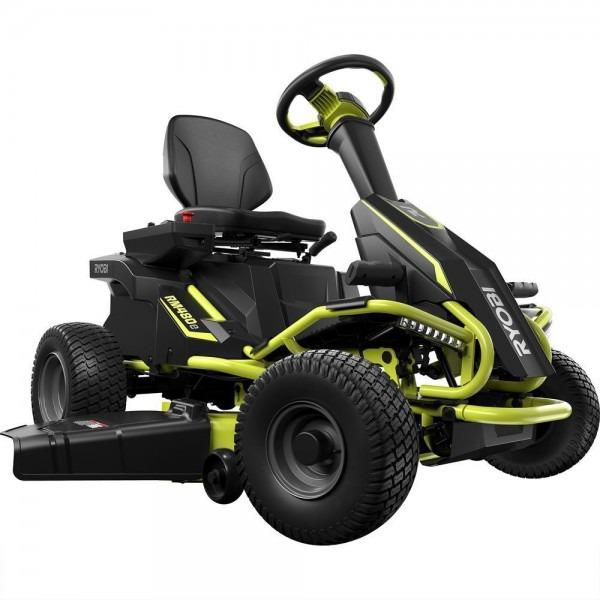 Ryobi 38 In  75 Ah Battery Electric Rear Engine Riding Lawn Mower