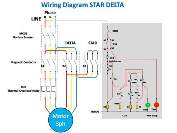 Star Delta Wiring Diagram