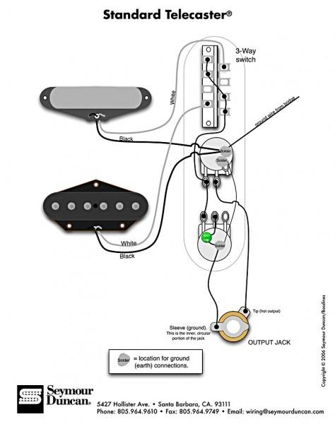 Fender Telecaster Schematic