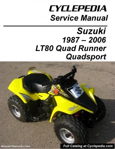 Suzuki Lt80 Quadsport, Kawasaki Kfx80 Cyclepedia Printed Service