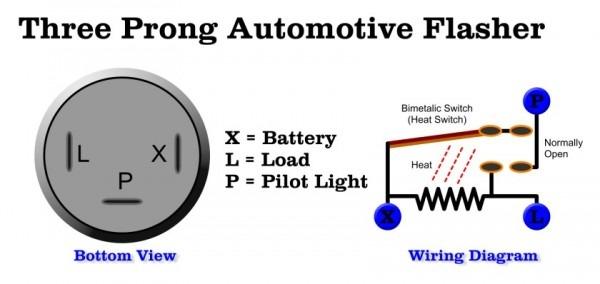 3 Pin Flasher Relay Wiring Diagram