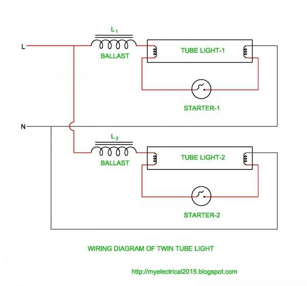 Twin Fluorescent Lamp Wiring Diagram