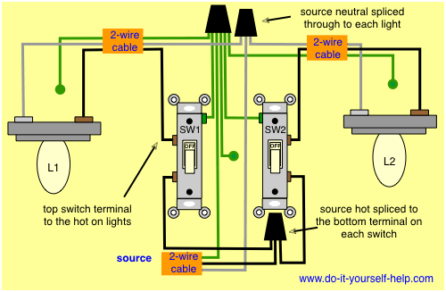 2 Switch Wiring Diagram