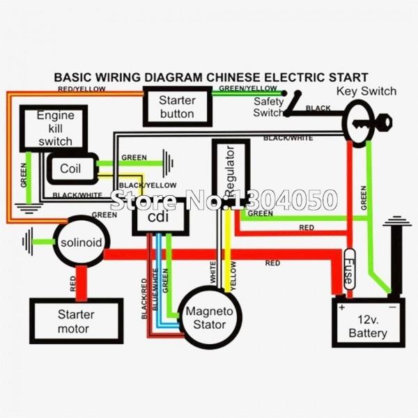 110cc Wire Harness Diagram